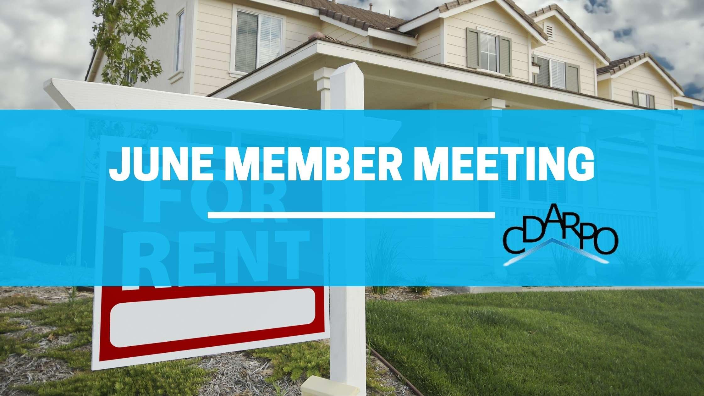 june member meeting cdarpo